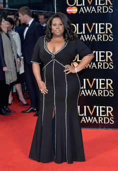 Amber Riley served on the red carpet of The Olivier Awards in London.