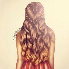 Heart braid drawing. By: Kristina Webb