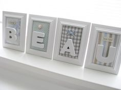 Nice as a maternity gift for example! Birth Gift, Pregnancy Gifts, Idee Diy, Letter A Crafts, Nursery Room Decor, Everything Baby, Baby Kind, Diy Wood Projects, Baby Accessories