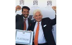Entrega del Premio Leed Platinum durante la jornada @BioEconomic