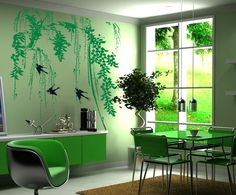 Promotion price Green Tree Wall Stickers Home Decor Spring Style Living Room Swallows Wall Decor Bedroom TV Setting Wall Stickers just only $3.31 with free shipping worldwide  #wallstickers Plese click on picture to see our special price for you