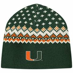 Miami Hurricanes Ladies Pine Cone Beanie - Green...I might need this for the bowl game :-)