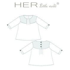 HER Little world, Patron de couture pour vêtement enfant, tunique Curieuse