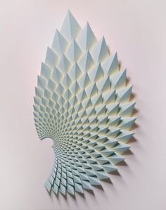 Paper Wall Art, Paper Artwork, 3d Paper, Origami Wall Art, Paper Structure, Fine Arts Center, Paper Architecture, Artist Art, Sculpture Art