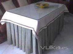 Resultado de imagen de tapete de mesa camilla