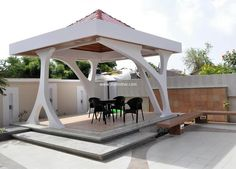 Implement this idea of gazebo to have a useful and functional craft. Its worth is defined by its simple and fantastic beauty. Enjoy sitting with your family in this wonderful hut and cherish every moment. White color of this gazebo is creating peaceful and tidy look.