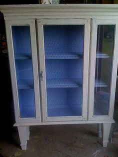 Saved!  Broken Broyhill Breakfront becomes Barrister Bookcase by bridiemurphy, via Flickr