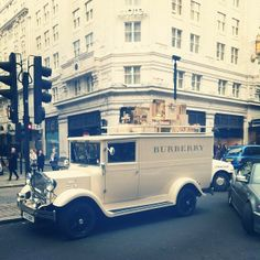The Burberry drawing a crowd by our HQ on the strand.