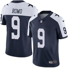 Nike Cowboys  9 Tony Romo Navy Blue Thanksgiving Men s Stitched NFL Vapor  Untouchable Limited Throwback 76c26cd42