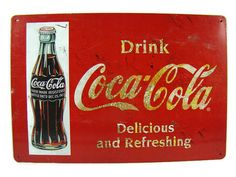 Vintage Coca Cola Advertisement Sign by InUseAgain on Etsy