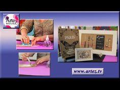 Transferencia de imagenes sobre arpillera - YouTube