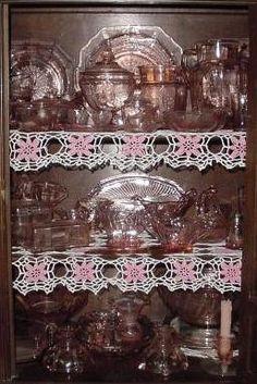 Love pink depression glass!
