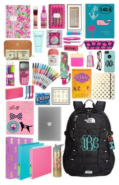 What's in my backpack: Tuesday by kaley-ii on Polyvore featuring polyvore, fashion, style, The North Face, Tory Burch, Lilly Pulitzer, Splendid, Marc Jacobs, Kate Spade, Vineyard Vines, ban.do, Nook, Sharpie, OtterBox, Katie, OPTIONS and mollysbtscontest: