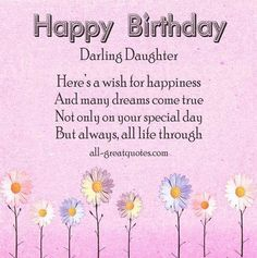 Birthday Wishes For Daughter Beautiful Happy Law Birthdaycard Favorite Cards Greeting