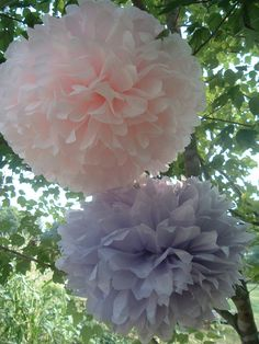 7 Tissue paper pom poms. Pom Pom. Tissue paper. Hanging flower, Baby shower. Bridal shower. Wedding. (choose colors)