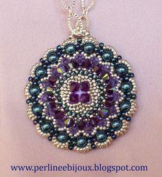 "Ciondolo+""Blue+Pearls"",+by+Perline+e+Bijoux,+17,00++su+misshobby.com"