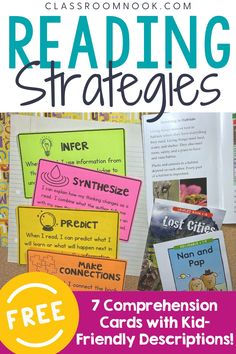 FREE Reading Strategy Cards for Upper Elementary