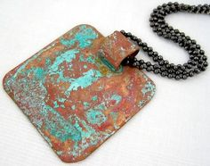 Homemade vinegar and salt Patina tutorial - blue green patina on copper