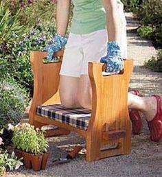 Main image for USA Made Cedar Garden Kneeler Seat OUTDOORS STUFF