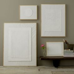 White Collaged Painting | west elm