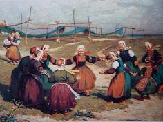 """EDOUARD DOIGNEAU """" La ronde des petites Bigoudènes """" 1906"""