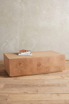 Oyster-Cut Coffee Table - anthropologie.com