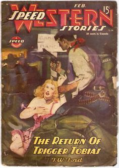 Pulp Speed Western Feb 1945 Saloon Girl Bar Fight Cover | eBay..