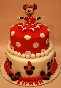 Minnie mouse birthday cake <3