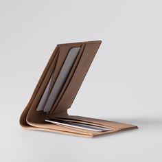 Mens Wallet / Minimalist Super-Thin Washable Paper Bi-Fold Wallet in Sahara Camel / Billfold