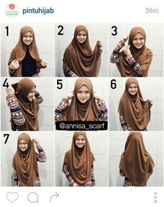 40 modern hijab and tutorials that will inspire you! - Hijab tips 40 mod. 40 modern hijab and tutorials that will inspire you! – Hijab tips 40 modern hijab and Cha Stylish Hijab, Modest Fashion Hijab, Modern Hijab Fashion, Muslim Women Fashion, Hijab Fashion Inspiration, Mode Inspiration, Fall Fashion, Square Hijab Tutorial, Simple Hijab Tutorial