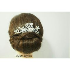 Classic bridal updo. Instagram@styles.by.tia Bridal Updo, All Things Beauty, Updos, Band, Classic, Instagram, Style, Fashion, Up Dos
