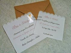 Partecipazione matrimonio country chic  - Wedding country chic invite