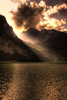 Sunlight Breaking Through Clouds.