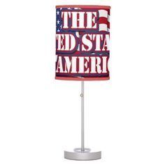The United States Of American - Waving Flag Lamps   •   This design is available on t-shirts, hats, mugs, buttons, key chains and much more   •   Please check out our others designs at: www.zazzle.com/ZuzusFunHouse*