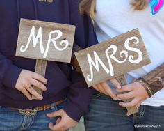 Mr and Mrs Signs SAVE THE DATE Sign Eco Wedding by TRUECONNECTION, $40.00