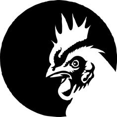 Black and white chicken clip . Black And White Chickens, Black Chickens, Chicken Painting, Chicken Art, Chicken Houses, Hahn Tattoo, Carnicerias Ideas, Joker Poster, Rooster Art