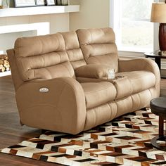 New Brown Rocker Recliner Cup Holder Lazy Chair Seat