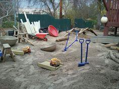 Sandpit at Roseville Community Preschool/Bev Boss program via For the Children ≈≈