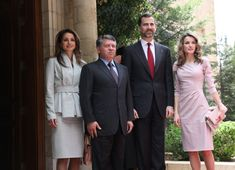 Princess Letizia, Queen Rania, Abdullah II of Jordan, Crown Prince Felipe