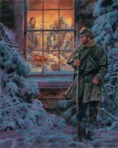 Christmas dinner - Mort Kunstler