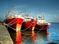 Barcos pesqueros puerto Mar del Plata Argentina