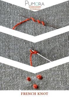 Pumora's embroidery stitch lexicon: french knot tutorial
