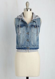 Explore de Force Vest. Take a journey to the center of the mirth with this denim vest and show other trailblazers youre always ready to roam! #blue #modcloth