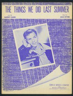 FRANK SINATRA - JULE STYNE - THE THINGS WE DID LAST SUMMER 1956 ORIG, MUSIKNOTE | eBay