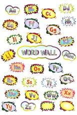 Renewing Minds Superheroes Word Wall Bulletin Board Set, Set of 30 Pieces Superhero Classroom Theme, Classroom Themes, Classroom Resources, Word Wall Headers, Alphabet Words, Comic Book Style, Uppercase And Lowercase Letters, Lower Case Letters, Bulletin Boards