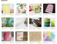 project life etsy treasury