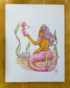 """Squid Vishuss on Instagram: """"Day 5 Seahorse 🐬🐚 #squidsmermay"""" Mermaid Lagoon, Instagram, Art, Art Background, Kunst, Performing Arts, Art Education Resources, Artworks"""