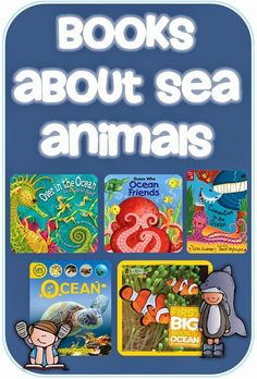 Books about Sea Animals and a freebie Clever Classroom blog Good for Wild Animals/Animal Antics or Water/Splish, Splash