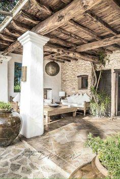 Pergola Ideas For Patio Outdoor Rooms, Outdoor Living, Outdoor Decor, Rustic Patio, Wood Patio, Diy Patio, Patio Interior, Mansion Interior, Interior Design