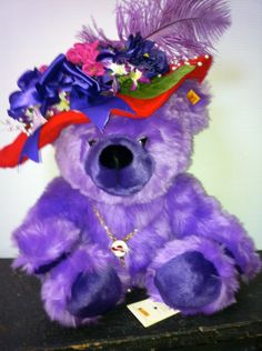 """Steiff Bear """"Trudy"""", for the Red Hat Society by by AntiqueCarla, $149.00"""